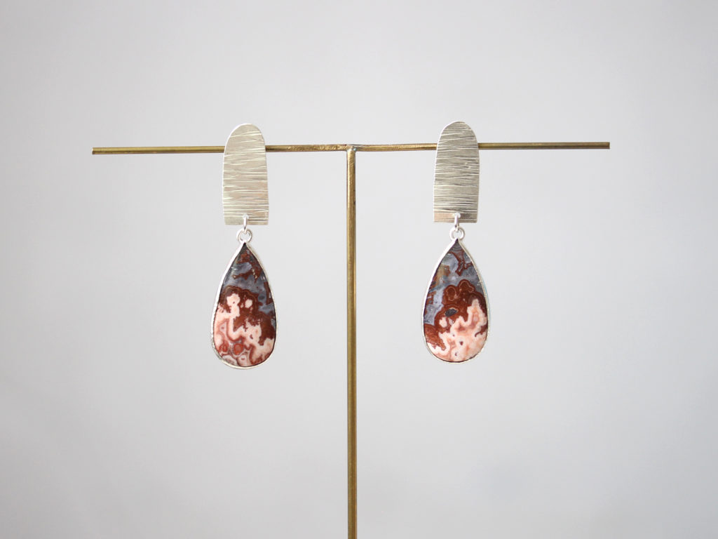 Lace Agate Earrings : archive
