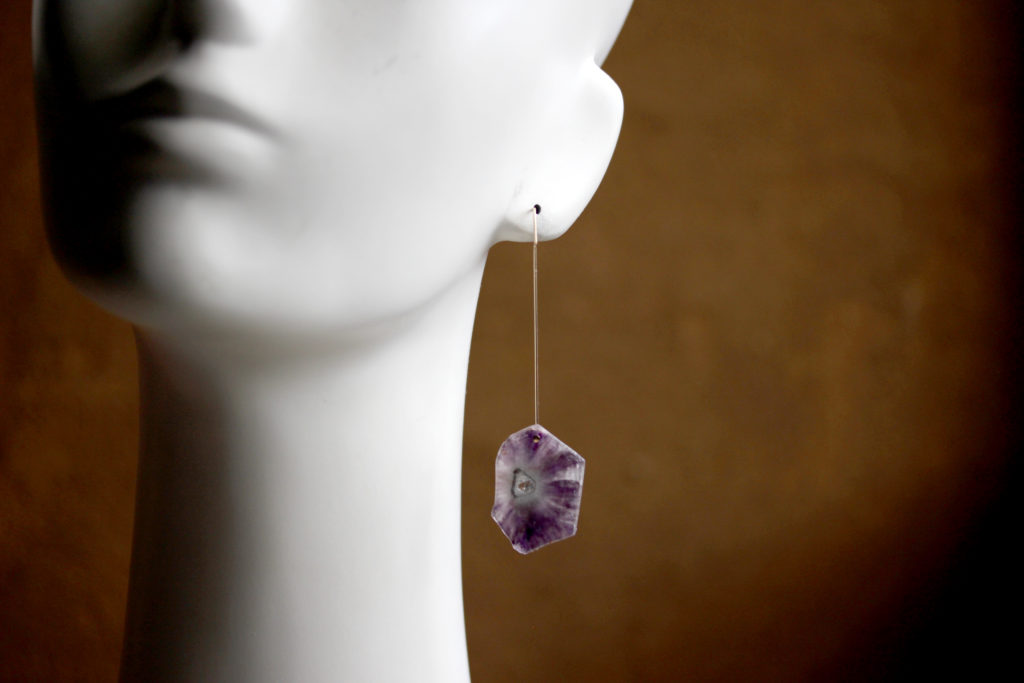 Amethyst Slice Earrings : archive