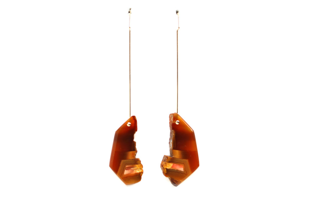 Rough Agate Earrings : archive