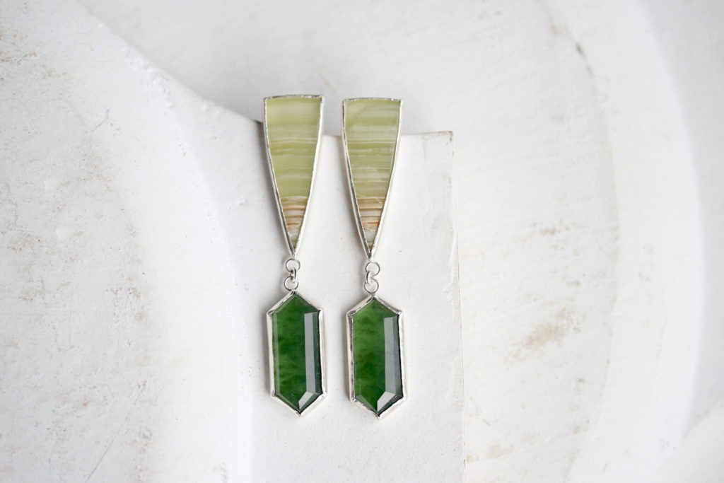 Agate & Serpentine Earrings : archives