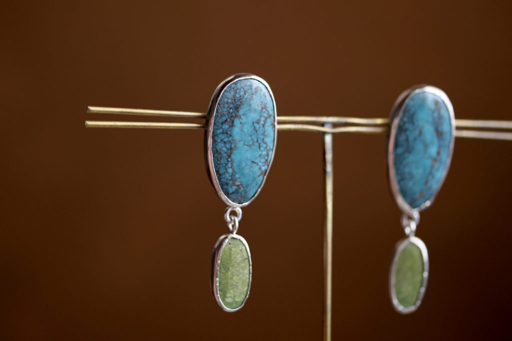 Double Turquoise Earrings : archive