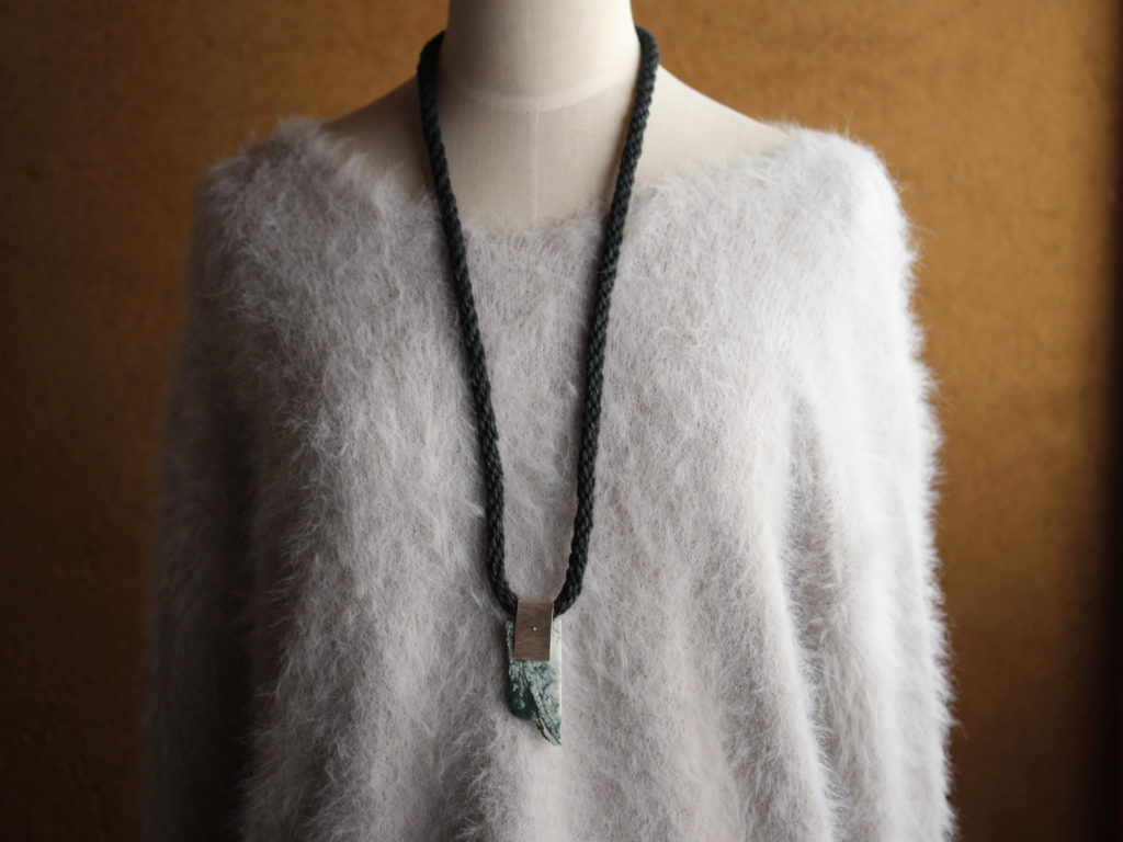 Moss Agate Kumihimo Necklace : archive