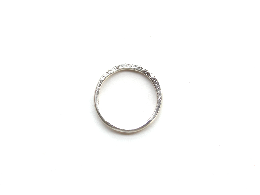 Hammered Silver Ring : archive