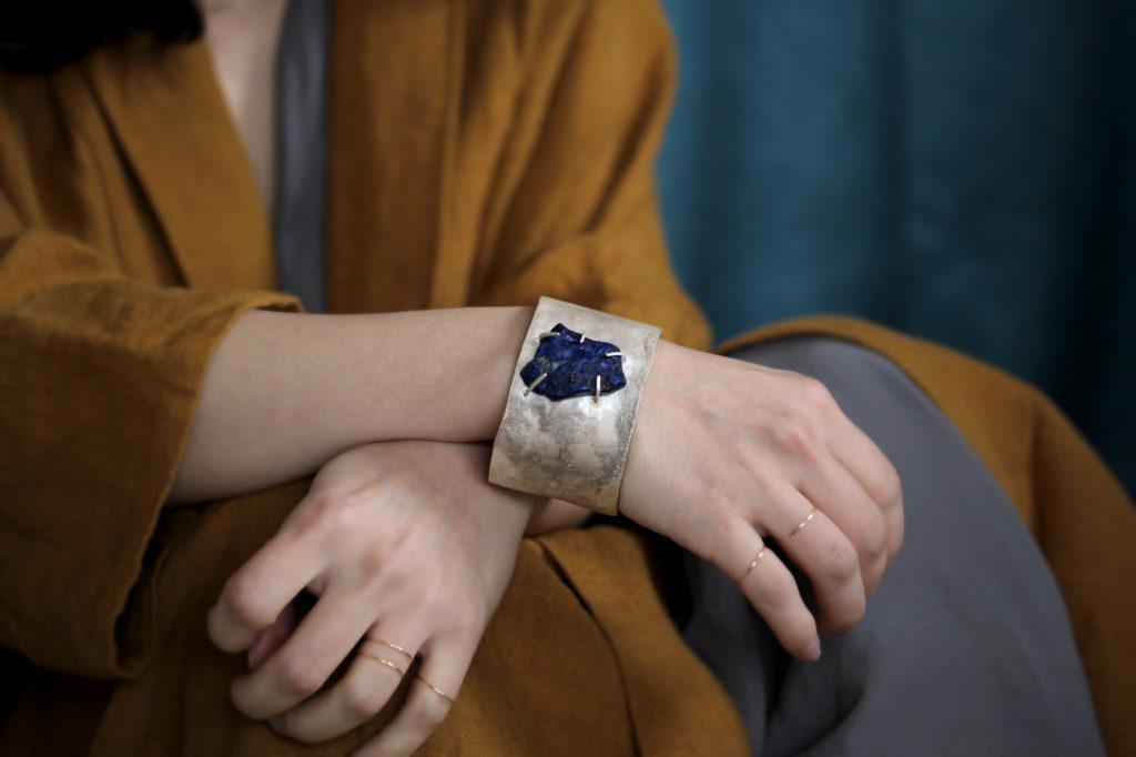 Rough Lapis Lazuli Cuff : archive