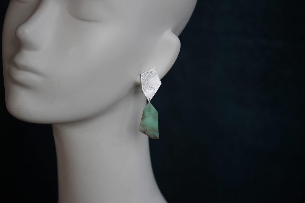 Chrysoprase Clip Earrings : archive