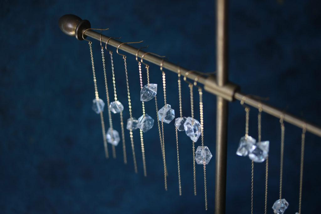 Chained Quartz Earrings : archive