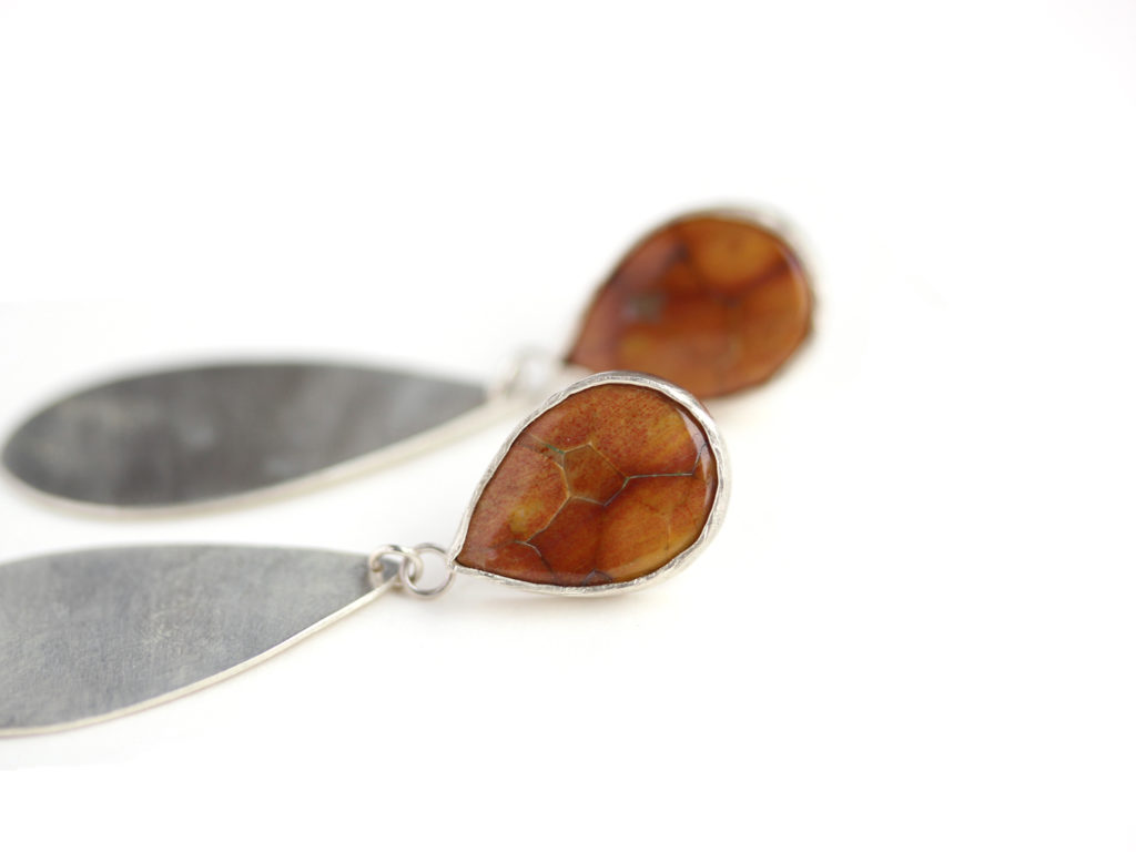 Petrified Wood Earrings : archive