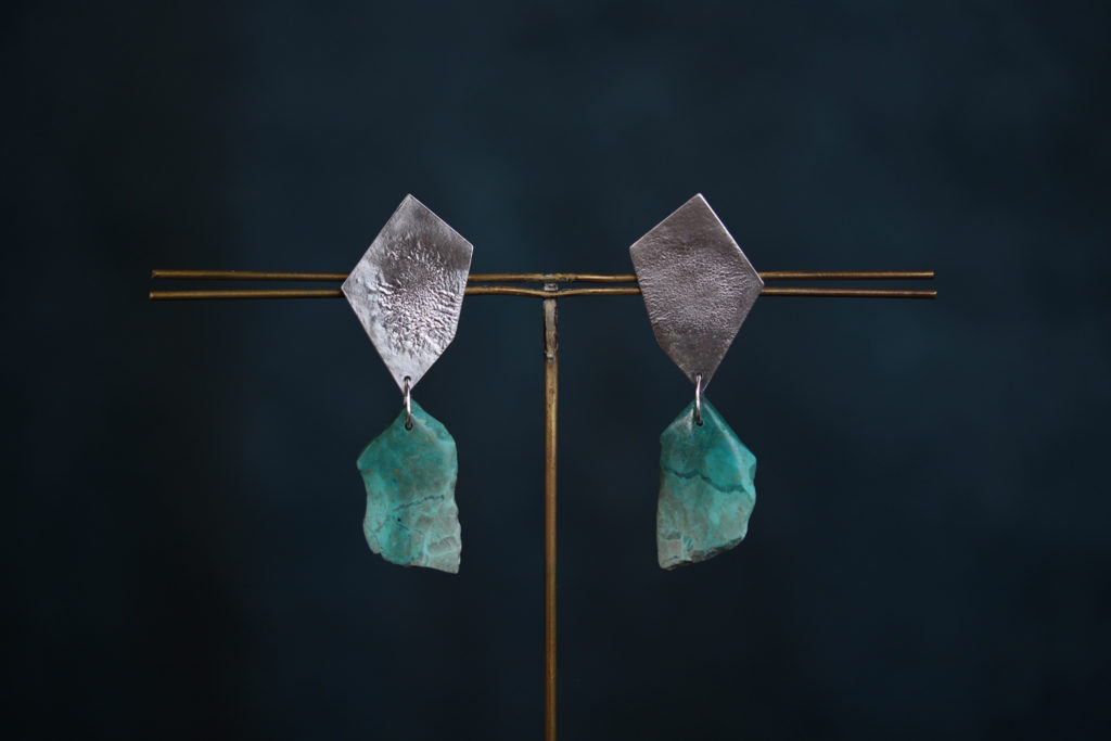 Chrysocolla Earrings : archive