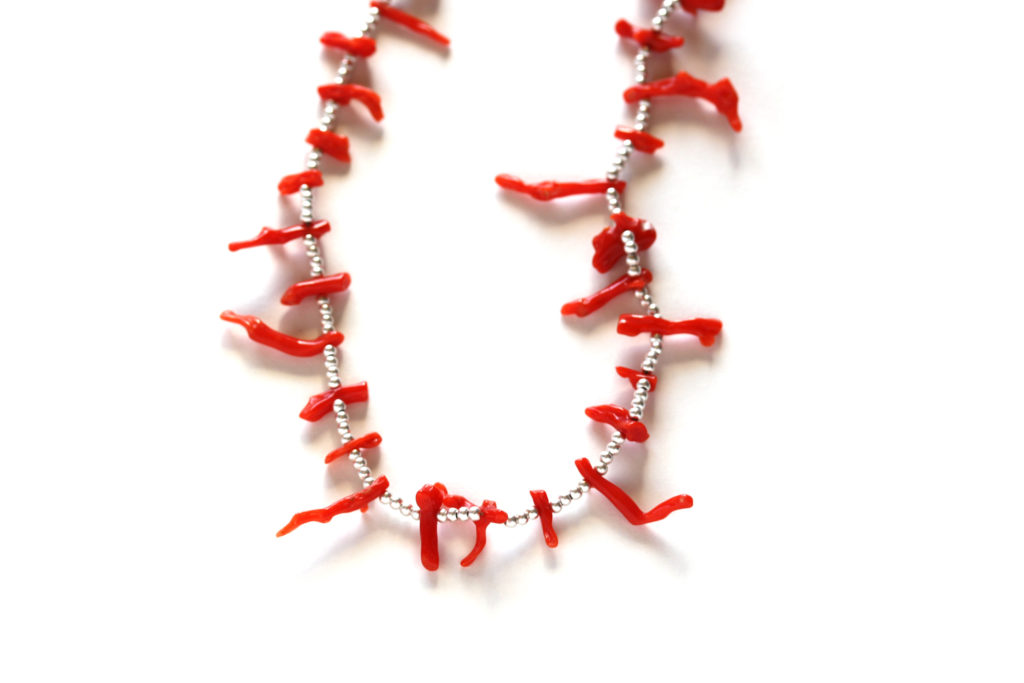 Coral Branch Beaded Necklace : archive
