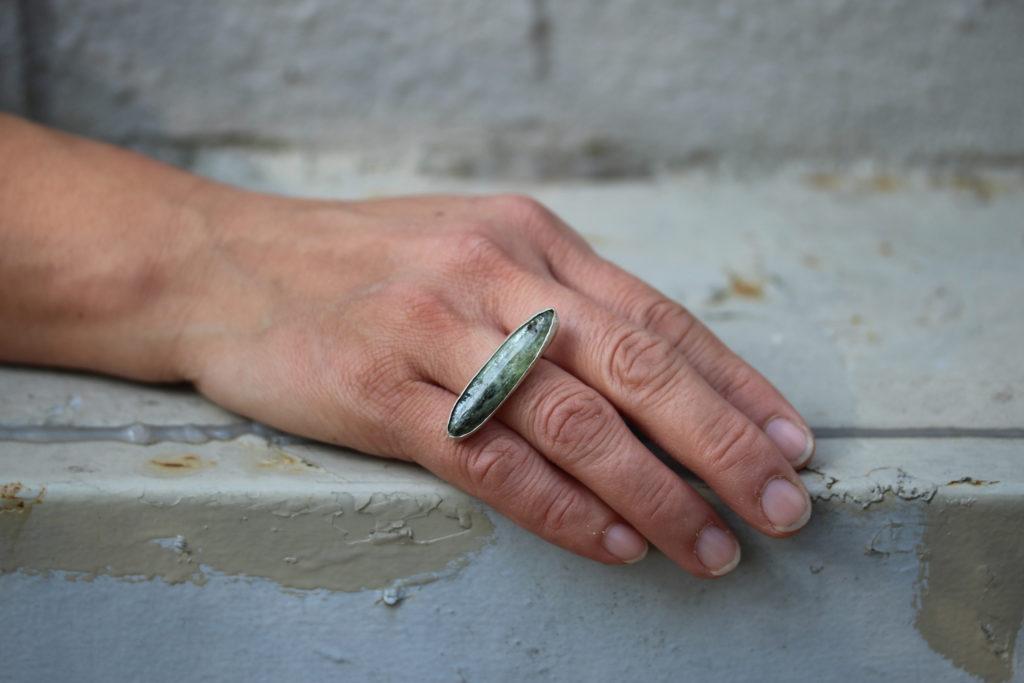 Green Kyanite Ring : archive