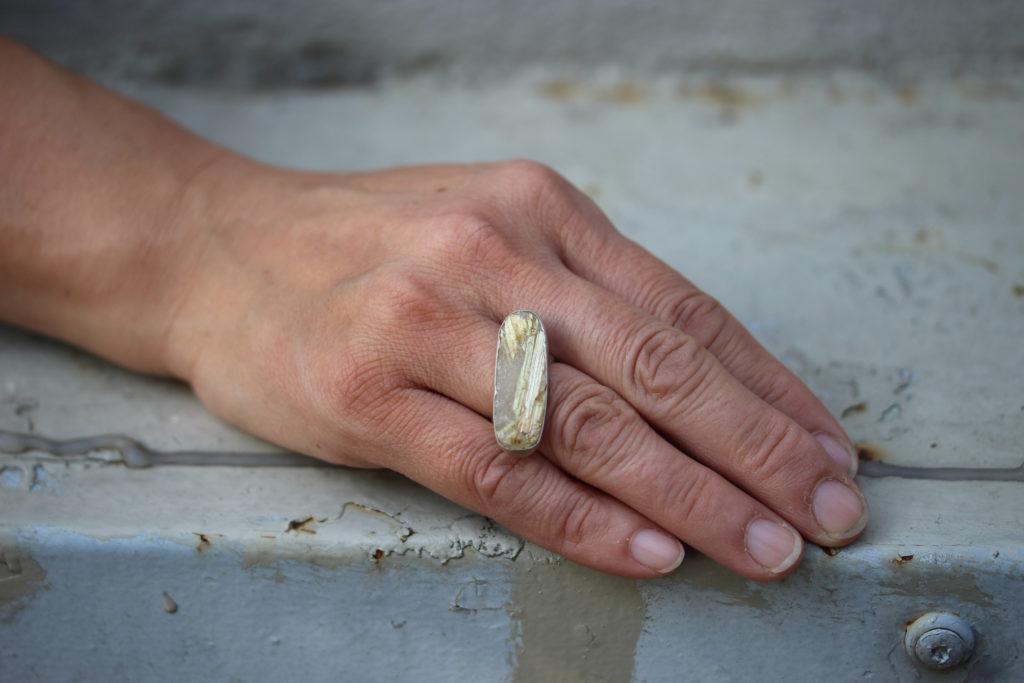 Gold Rutilated Quartz Ring : archive